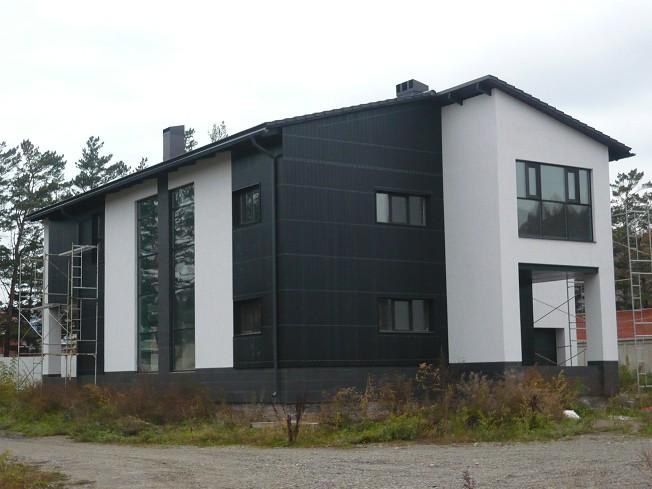 Отделка фасада дома плитой осб