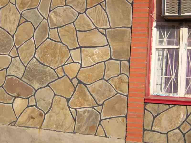 кладка камня из плашки