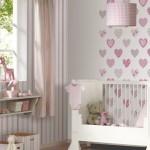 комбинирование обоев для детской комнаты 2