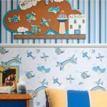 комбинирование обоев для детской комнаты 3