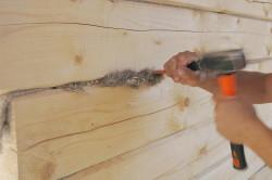 конопатка деревянных стен 3
