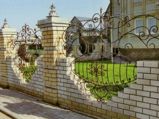 кованый забор для участка