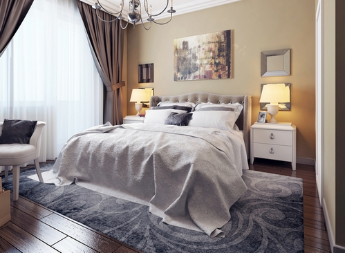 ковер в спальне