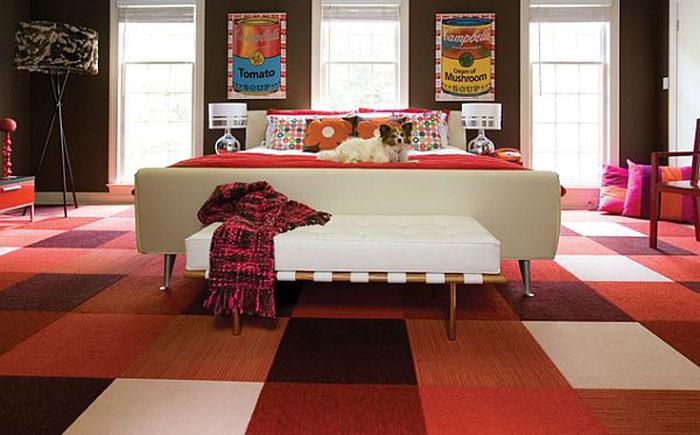 ковровая плитка для спальни 2