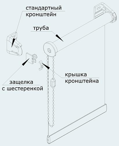 крепление рулонных штор 2