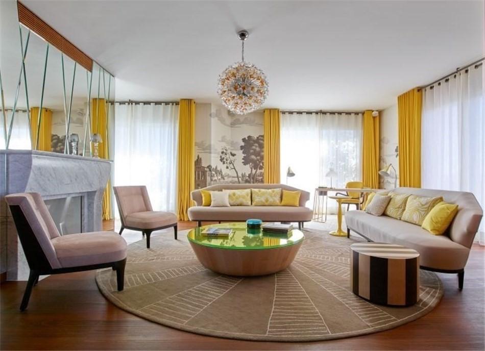 круговое расположение мебели в гостиной 2