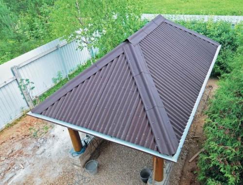 10 советов, чем покрыть крышу беседки на даче фото