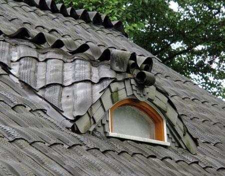 крыша из шин
