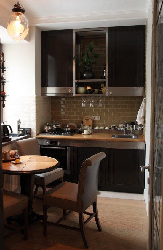 кухня в хрущевке однорядный гарнитур
