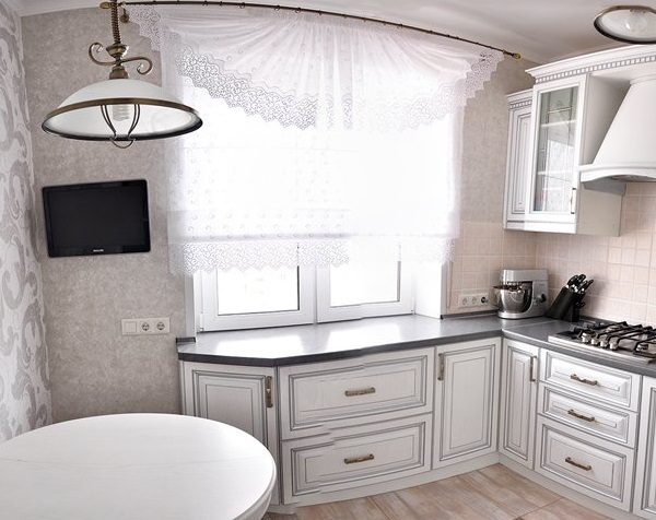 кухня в хрущевке подоконник 4