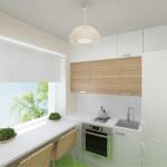 кухня в хрущевке подоконник 7