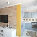 кухня в хрущевке с гостиной 3
