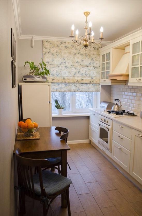 кухня в хрущевке шторы