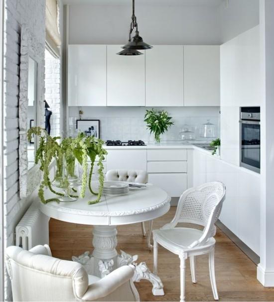 кухня в хрущевке цвет 2