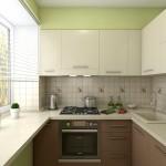 кухня в хрущевке цвет 3