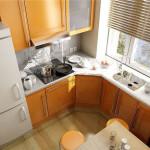 кухня в хрущевке цвет 6