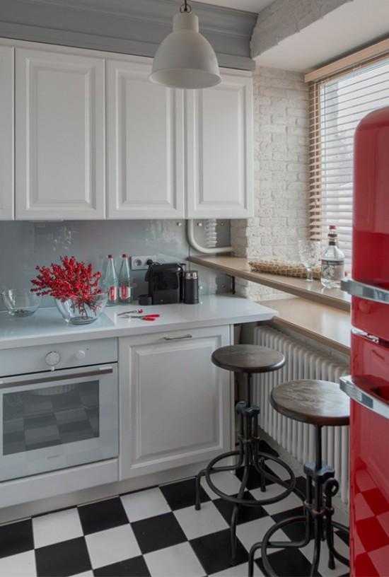 кухня в хрущевке цвет