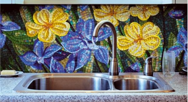 кухонный фартук из мозаики 2