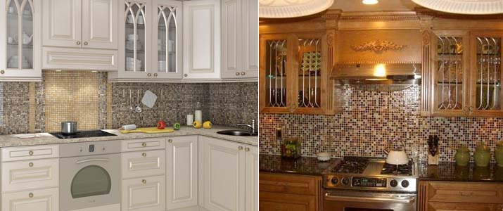 кухонный фартук из мозаики