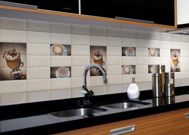 кухонный фартук из плитки 2