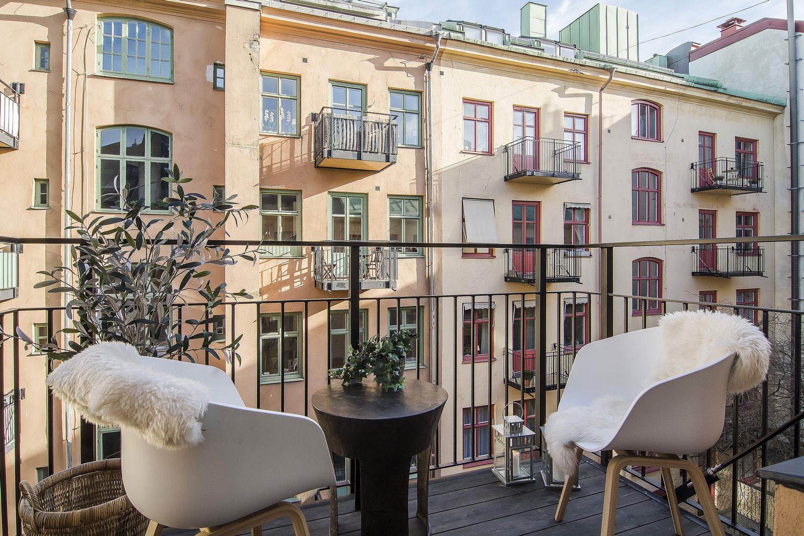 квартира студия балкон