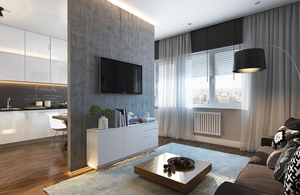 9 советов по дизайну квартиры студии интерьер и планировка фото