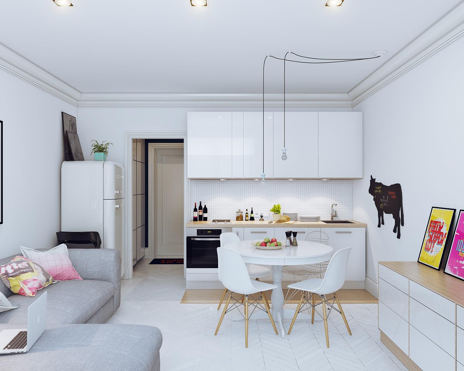 квартира студия кухня 4