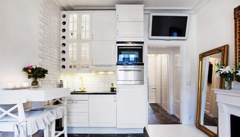 квартира студия кухня