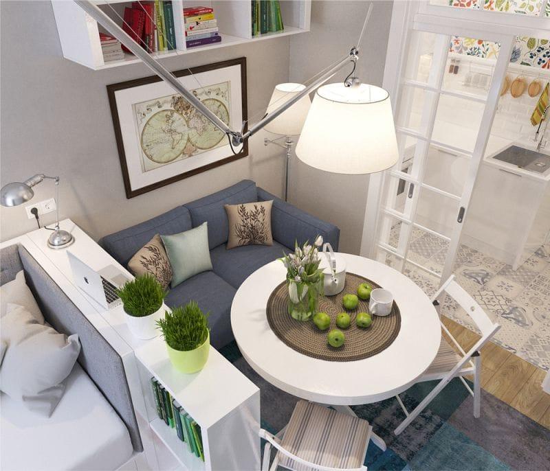 квартира студия мебель