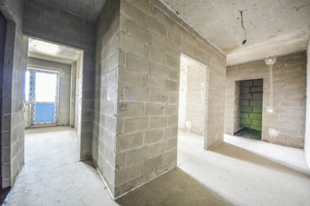 квартира в новостройке без ремонта