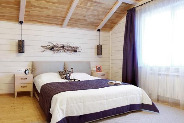 ламинат потолок в спальне - копия