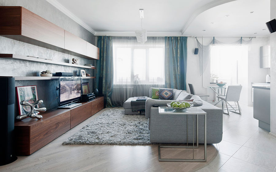 ламинат в гостиной 2