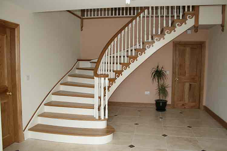 лестница для дома бетонная 2