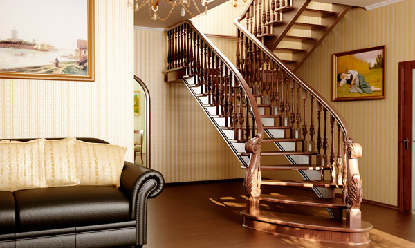лестница для дома из дерева