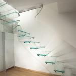 лестница для дома стеклянная 3
