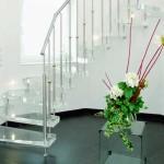 лестница для дома стеклянная 4