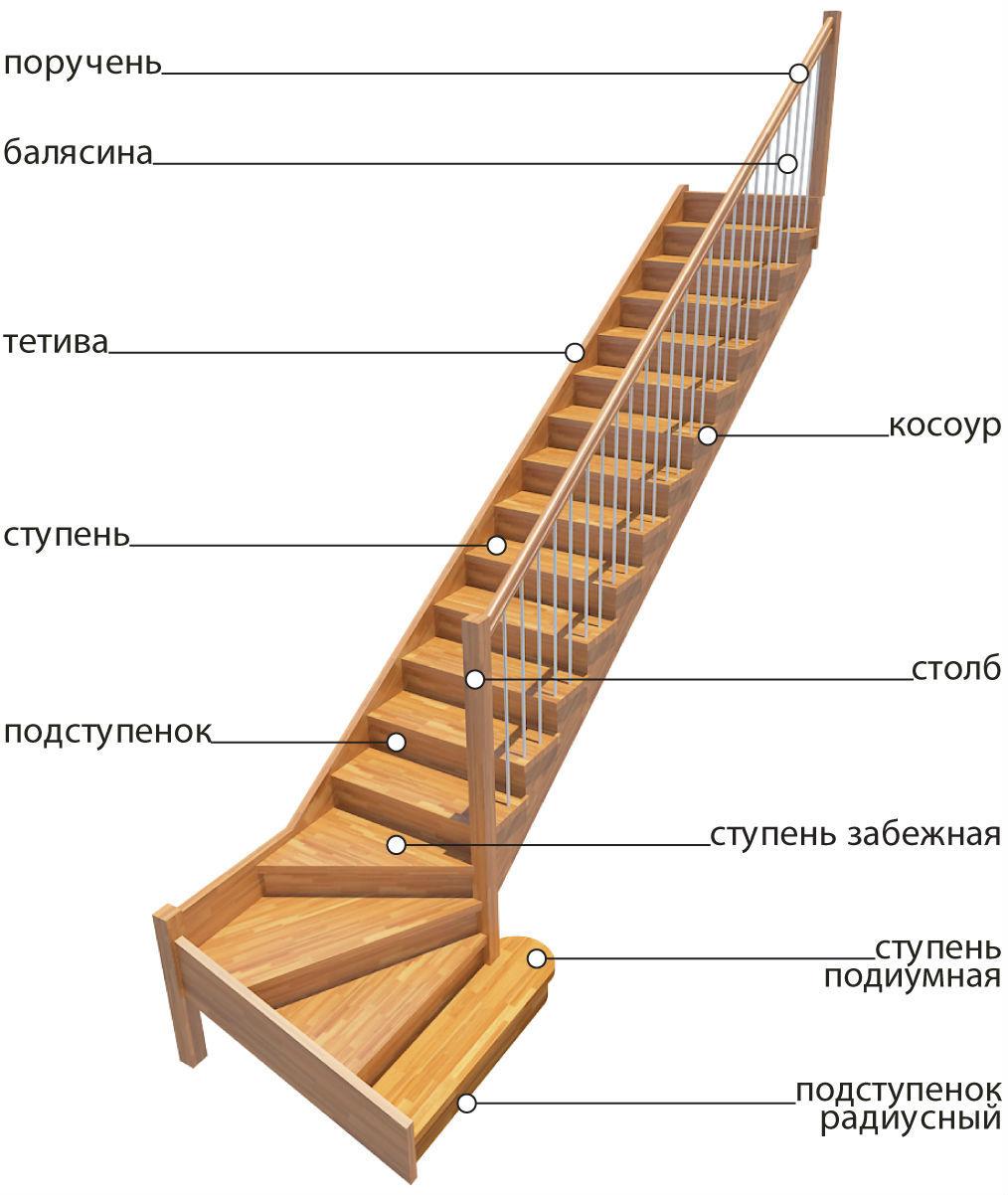 лестница основные элементы