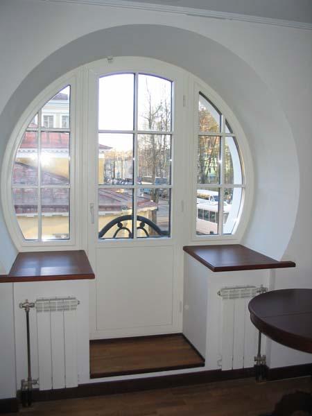 лконная дверь форма
