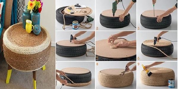 мебель из шин 3