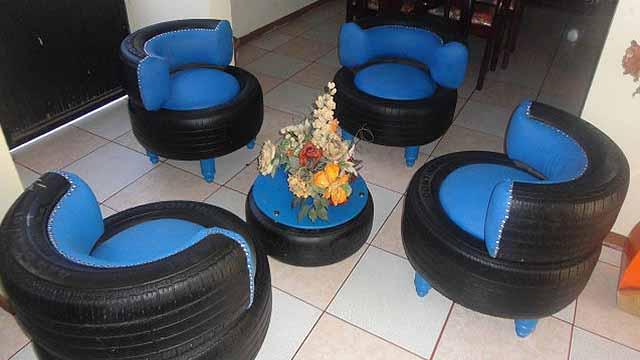 мебель из шин 7