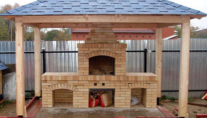 место для барбекю на даче