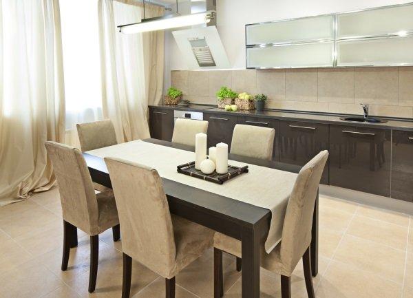 место обеденного стола на кухне 2