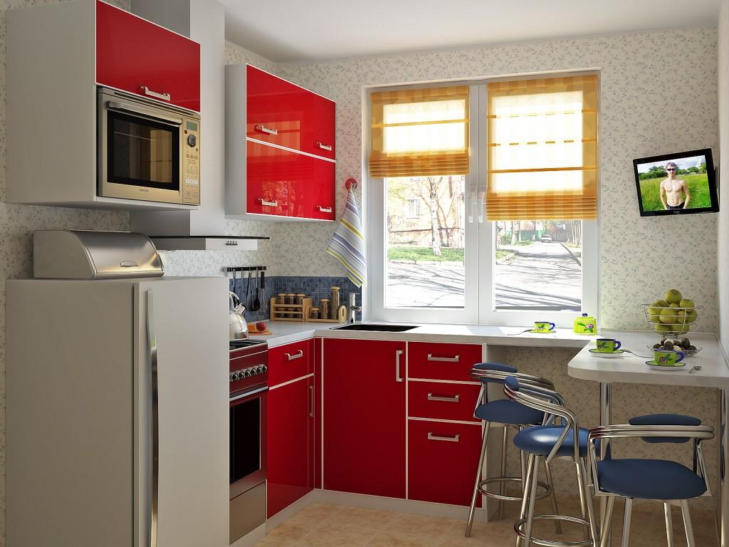 место обеденного стола на кухне 3
