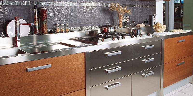 металлическа столешница для кухни 2