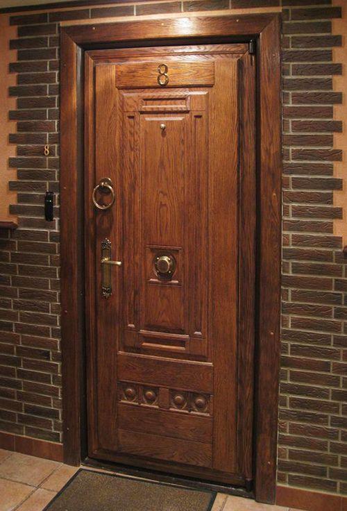 металлическая входная дверь отделка деревом