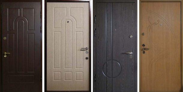 Отделка МДФ металлических входных дверей