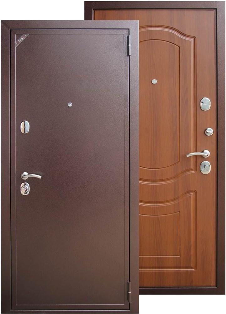 металлическая входная дверь створки 2