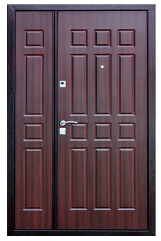 металлическая входная дверь створки