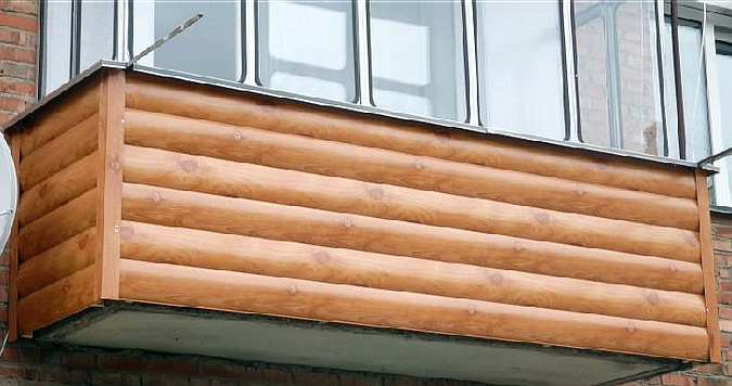 металлический сайдинг для внешней отделки балкона 2