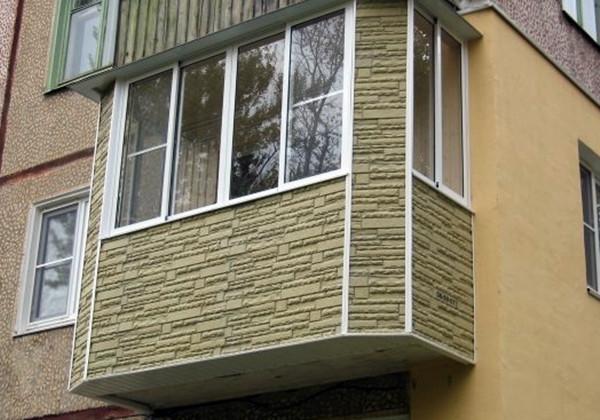 металлический сайдинг для внешней отделки балкона 3